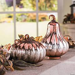 Gilded Harvest Mercury Pumpkins