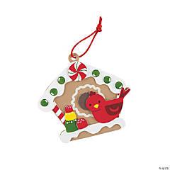 Gingerbread Birdhouse Ornament Craft Kit