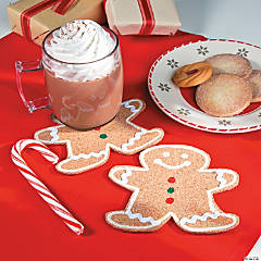Gingerbread Coasters Christmas Crafts Idea