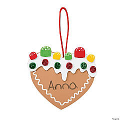 Gingerbread Heart Ornament Craft Kit