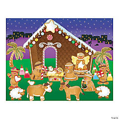 Gingerbread Nativity Sticker Scenes