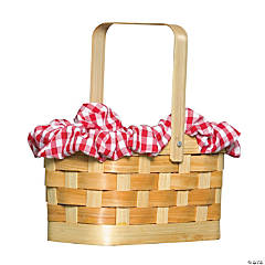 Gingham Purse Basket