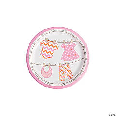 Girl Baby Clothes Dessert Plates