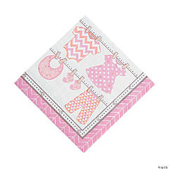 Girl Baby Clothes Luncheon Napkins