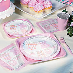 Girl Baby Clothes Party Supplies