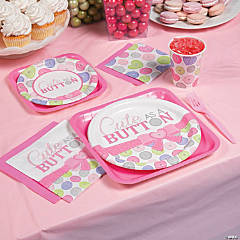 Girl Cute as a Button Basic Party Pack