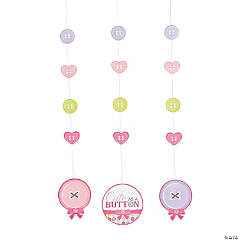 Girl Cute as a Button Hanging Cutouts