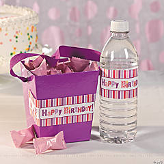 Girl Happy Birthday Water Bottle Label Idea