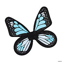 Girl's Blue & Teal Satin Butterfly Wings