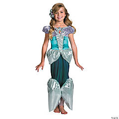 Girl's Deluxe Lamé The Little Mermaid™ Ariel Costume