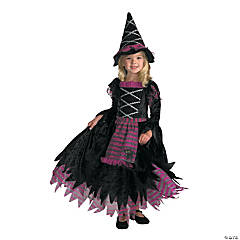 Girl's Fairy Tale Witch Gown Costume