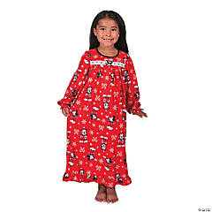Girl's Mickey Mouse Christmas Pajamas
