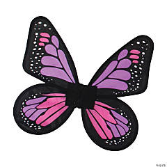 Girl's Pink & Purple Satin Butterfly Wings