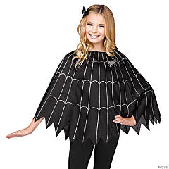 Girl's Spiderweb Poncho Costume