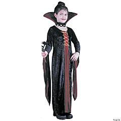 Girl's Velvet Victorian Vamp Costume