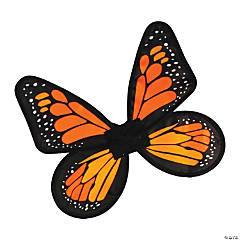 Girl's Yellow & Orange Satin Butterfly Wings