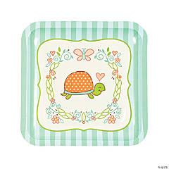 Girl Turtle Paper Dinner Plates