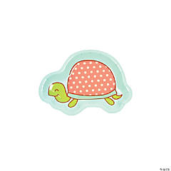 Girl Turtle Shaped Paper Dessert Plates