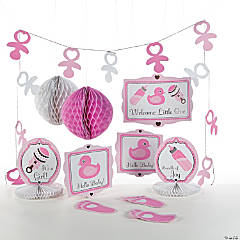 Girl's Baby Shower Decorating Kit