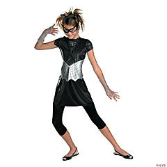 Girl's Black Suited Spider-Girl Costume