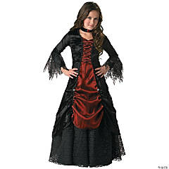 Girl's Gothic Vampira Costume - Small