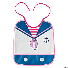 Girl's Nautical Bib