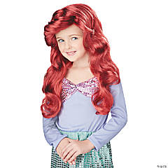 Girl's Red Little Mermaid Wig