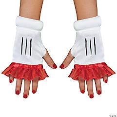 Girl's Red Minnie Glovettes