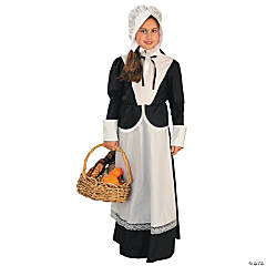 Girl's Small Black Pilgrim Costume