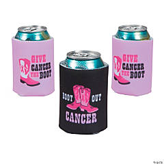 Give Cancer the Boot Can Coolers
