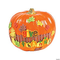 Give Thanks Pumpkin Decorating Craft Kit