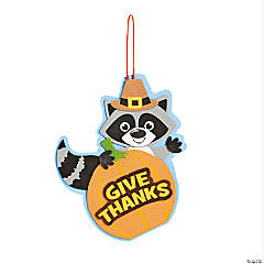 Give Thanks Raccoon Sign Craft Kit