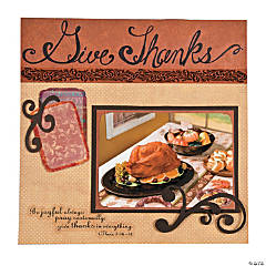 Give Thanks Scrapbook Page Idea