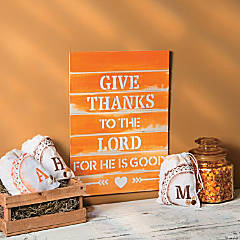 Give Thanks Slat Sign Idea