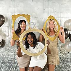 Glamorous Glitter Wedding Photo Booth Idea
