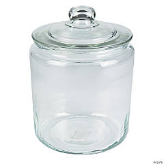 Glass Cylinder Jar with Lid