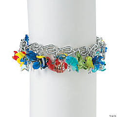 Glass Fish Bangle Bracelet Idea
