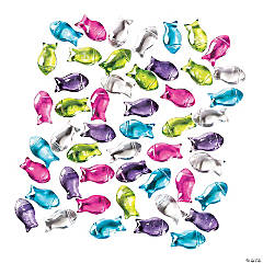 Glass Fish-Shaped Beads - 16mm