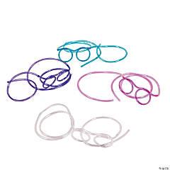 Glasses Plastic Straws