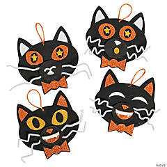 Glitter Black Cat Ornament Craft Kit