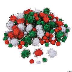 Glitter Christmas Pom-Poms