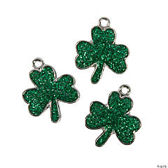 Glitter Clover Charms