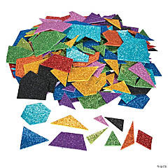 Glitter Foam Geometric Self-Adhesive Shapes