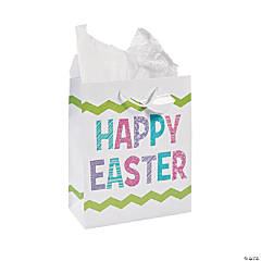 Glitter Happy Easter Gift Bags