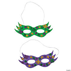 Glitter Mardi Gras Mask Craft Kit