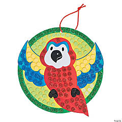 Glitter Mosaic Tropical Parrot Craft Kit