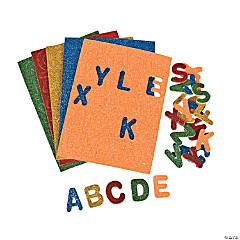 Glitter Self-Adhesive Letters