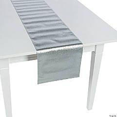 Glitter Silver Table Runner