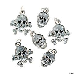 Glitter Skull Charms