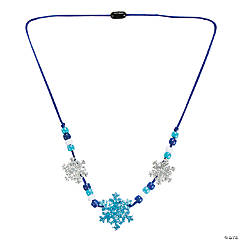 Glitter Snowflake Necklace Craft Kit